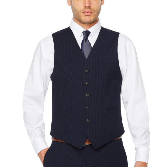 Stafford Striped Classic Fit Stretch Suit Vest