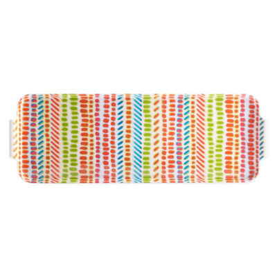 Outdoor Oasis Oblong Speckles Serving Tray