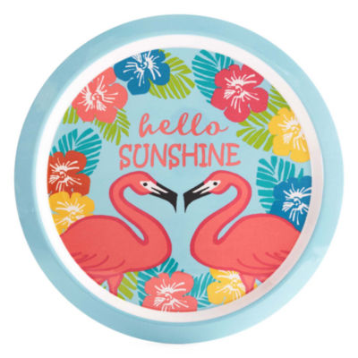 Outdoor Oasis 16in Round Flamingo Serving Tray