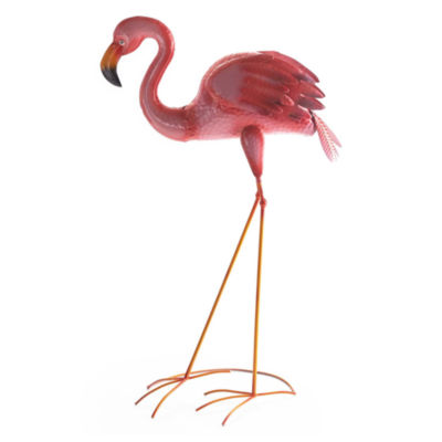 Outdoor Oasis Metal Flamingo Yard Art