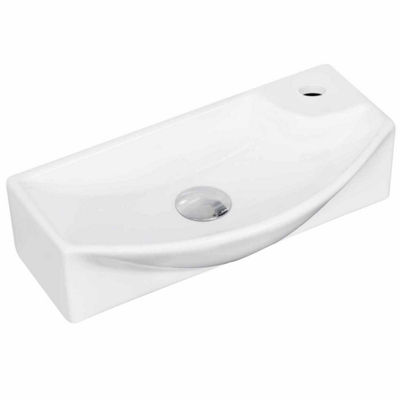American Imaginations 17.75-in. W Wall Mount White Vessel Set For 1 Hole Right Faucet