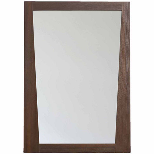 American Imaginations 23.5-in. W X 33.5-in. H Modern Plywood-Melamine Wood Mirror In Wenge