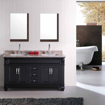 American Imaginations 23.5-in. W X 35.5-in. H Modern Plywood-Melamine Wood Mirror In Dawn Grey