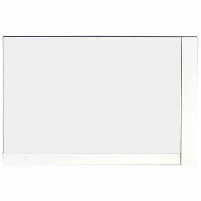 American Imaginations 35.5-in. W X 23.5-in. H Modern Plywood-Veneer Wood Mirror In White