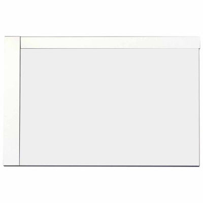 American Imaginations 35.5-in. W X 23.5-in. H Modern Plywood-Veneer Wood Mirror In White