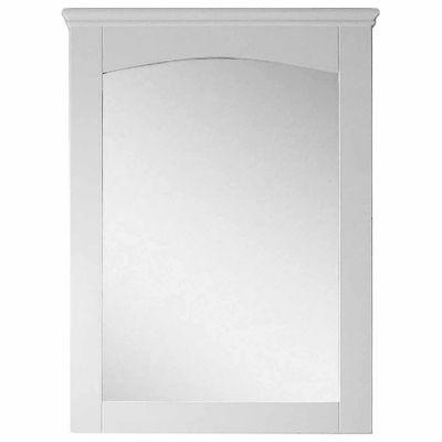 American Imaginations 24-in. W X 31.5-in. H Modern Plywood-Veneer Wood Mirror In White