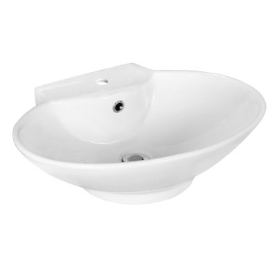 American Imaginations Ceramic Oval Vessel Sink