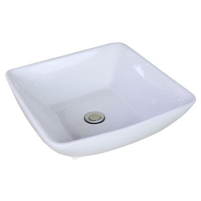 American Imaginations Ceramic Square Vessel Sink