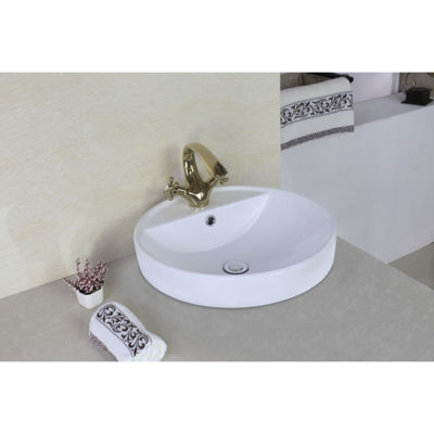 American Imaginations Ceramic Round Vessel Sink