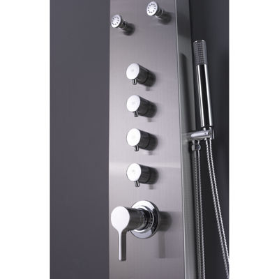American Imaginations Rectangle Wall Mount CUPC Approved Stainless Steel Shower Panel In Chrome Color
