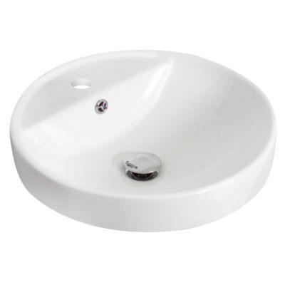 American Imaginations Ceramic Round Vessel Sink