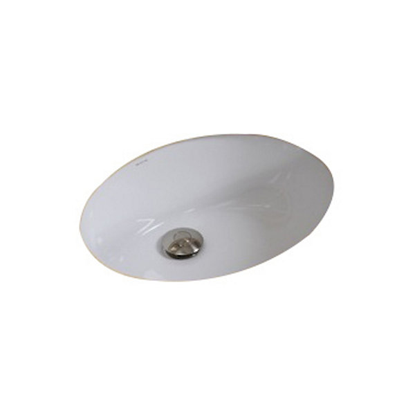 American Imaginations CUPC Oval Undermount Sink Set In White And Drain