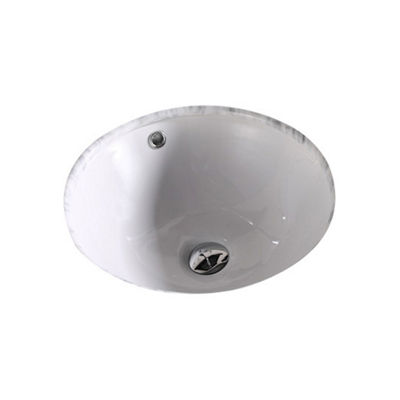 American Imaginations CUPC Round Undermount Sink Set In White And Drain