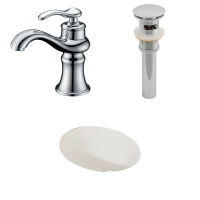 American Imaginations CUPC Oval Undermount Sink Set In Biscuit With Single Hole