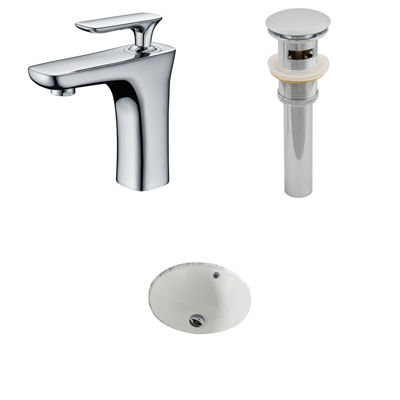 American Imaginations CUPC Round Undermount Sink Set In Biscuit With Single Hole
