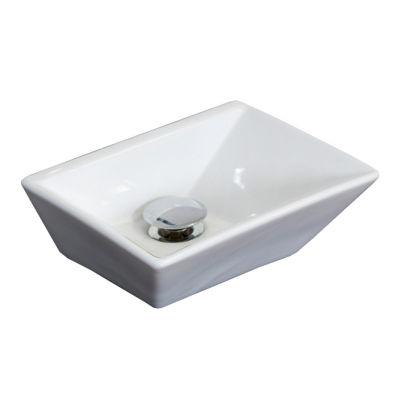 American Imaginations Emily Ceramic Rectangular Vessel Sink