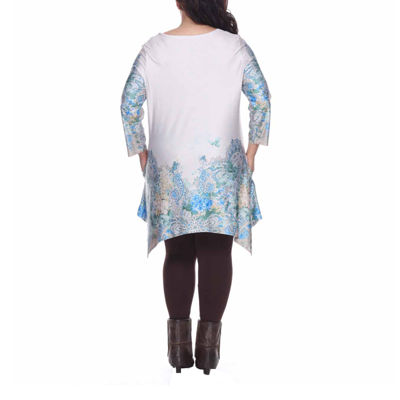 White Mark Inez Tunic Top-Plus