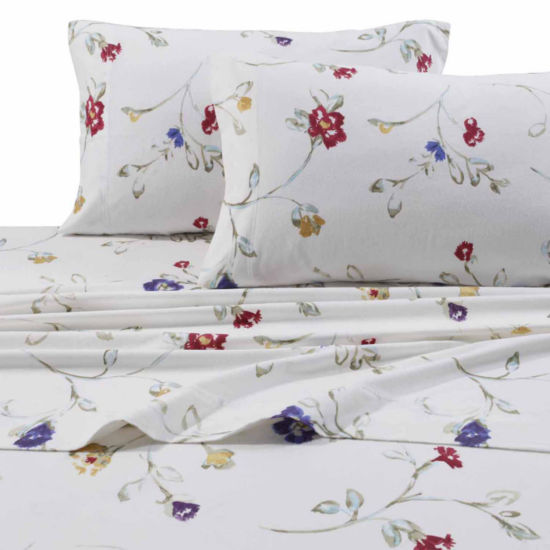 Tribeca Living Flannel Floral Garden Sheet Set