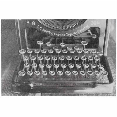 INK + IVY Vintage Typewriter Gel Coated Canvas
