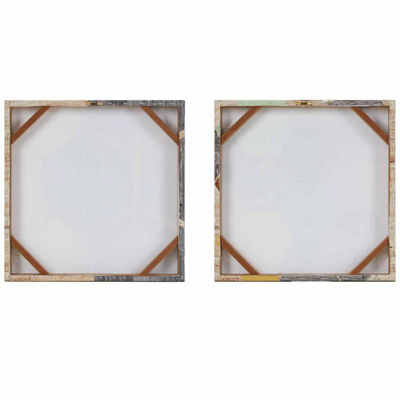 Intelligent Design Hexagon Puzzle Gel Coat 2-pc. Canvas Art