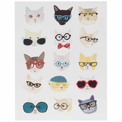 Intelligent Design Hip Cat Printed MDF Box Wall Art