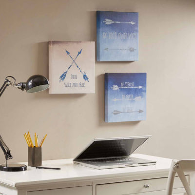 Intelligent Design Sentiment Arrows Printed 3-pc.Canvas Art