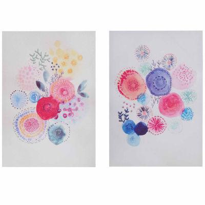 Intelligent Design Sweet Candy Garden Gel Coated Canvas