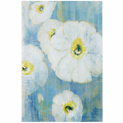 Madison Park A Floral Song White Hand Embellish Canv