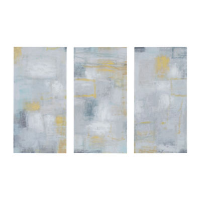 Madison Park Abstract Blocks Gel Coated Canvas