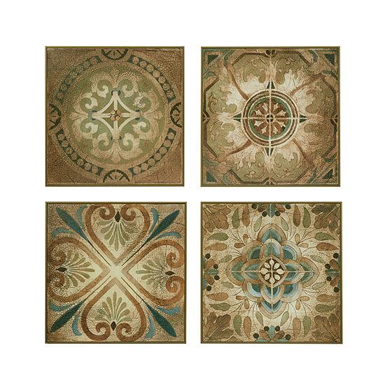 Madison Park Bella Blue Tiles Deco Box 4-pc. Set