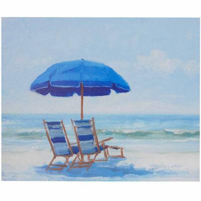 Madison Park Blue Beach Chairs Gel Coat Canvas