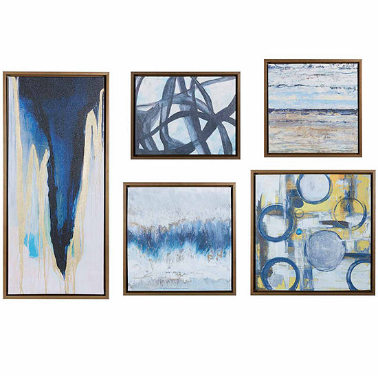 Madison Park Blue Bliss 5-pc. Gallery Art Set