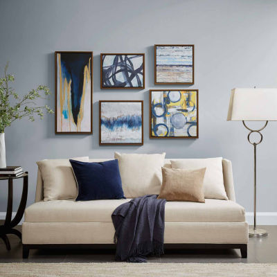 Madison Park Blue Bliss Gallery Art 5 Pc Set