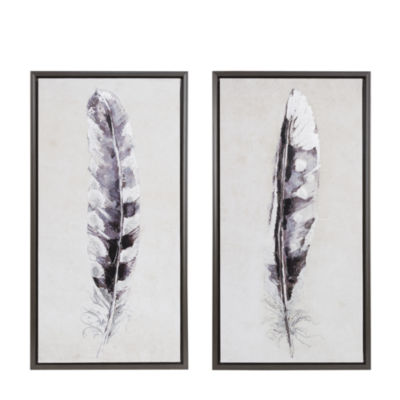 Madison Park Flight Feathers Gel Coated Canvas