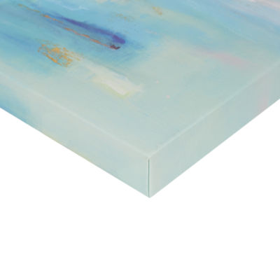 Madison Park Serene Blue Sky Hand Embellished Canvas