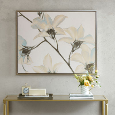 Madison Park Signature White Lilies Canvas Art With Frame