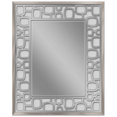 Head West 25.25 x 31.25 Etched Oblong Circle Wall Mirror