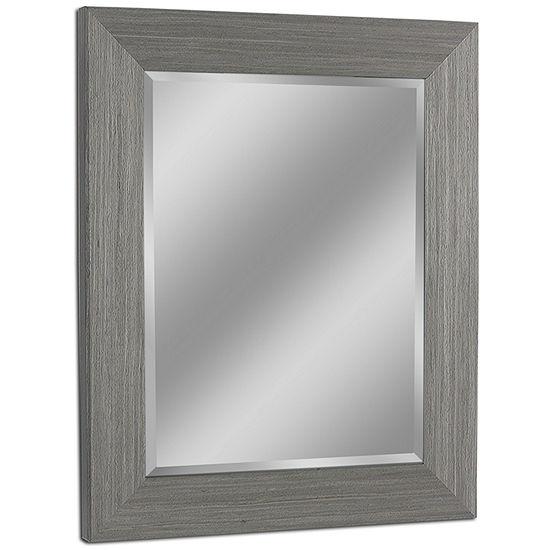 Head West Rustic Box Driftwood Wall Mirror