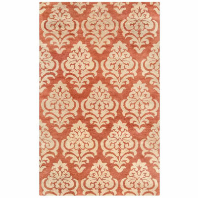 Rizzy Home Bradberry Downs Collection Hand-Tufted  Skylar Damask Area Rug