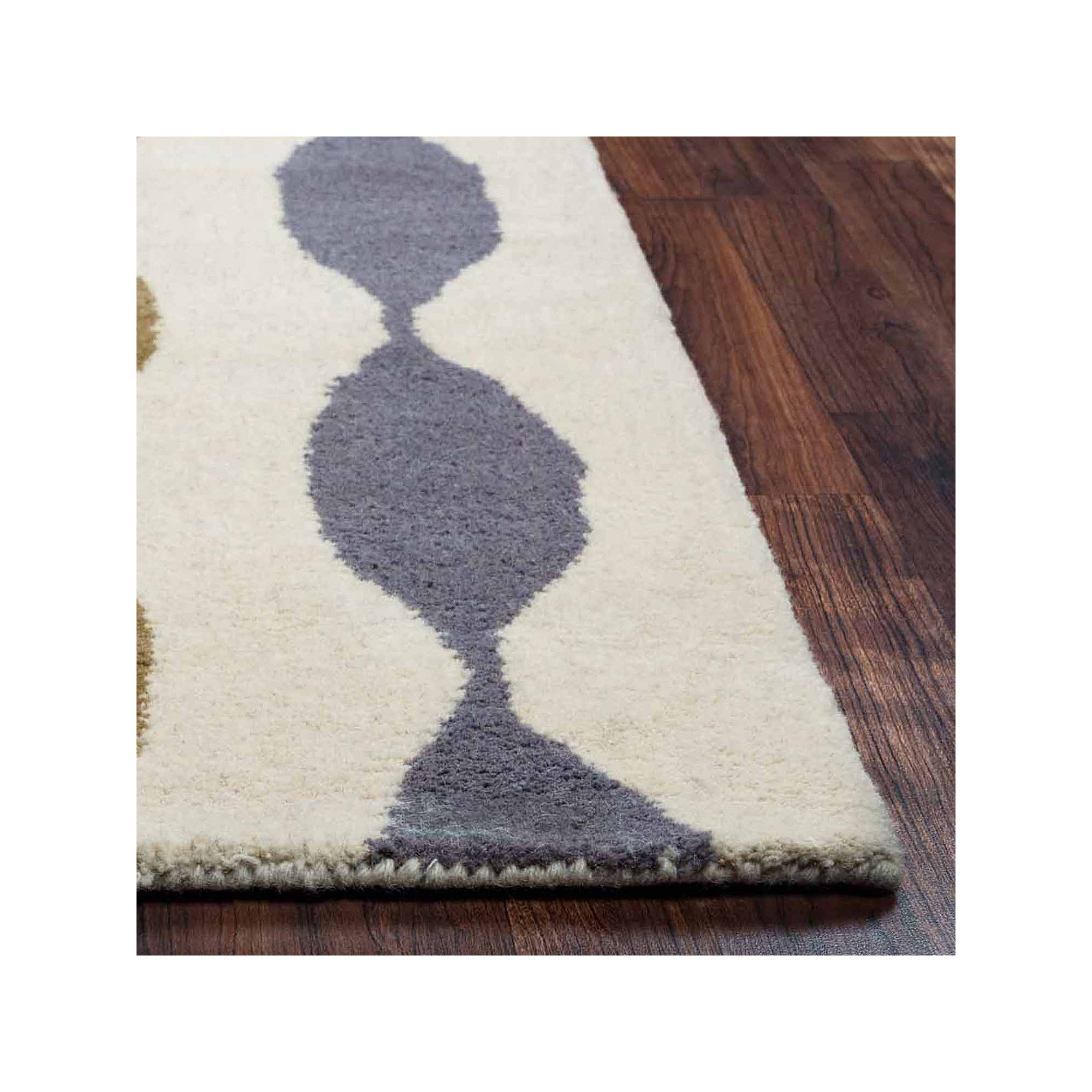 Rizzy Home Gillespie Avenue Collection Hand-Tufted Zoey Abstract Area Rug