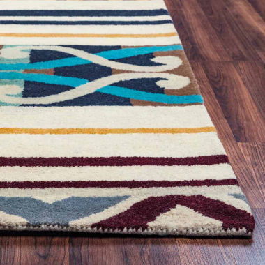 Rizzy Home Pandora Collection Hand-Tufted Reagan Stripe Area Rug