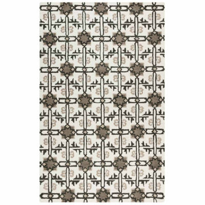 Rizzy Home Rockport Collection Hand-Tufted Alexa Geometric Area Rug
