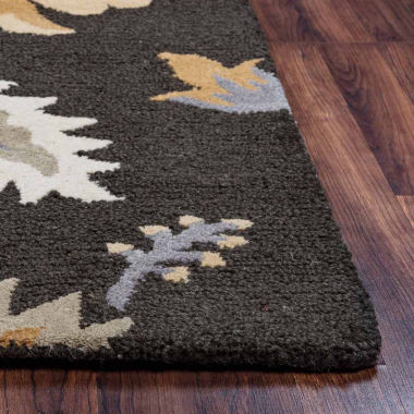 Rizzy Home Rockport Collection Hand-Tufted Makenzie Floral Area Rug