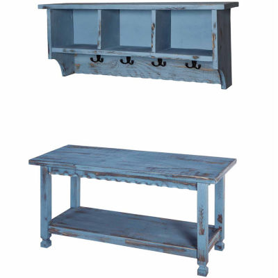 Country Cottage Coat Rack and Bench Set