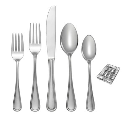 Oneida Gwyneth 42-pc. Flatware Set + Caddy