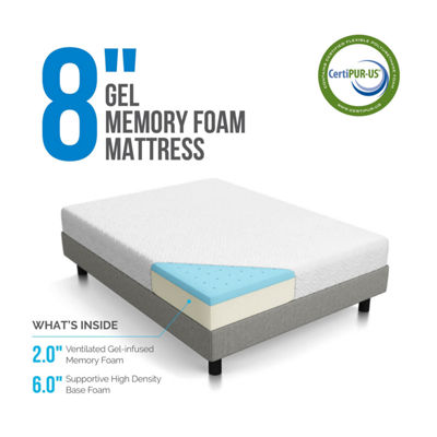 Lucid 8 Inch Gel Infused Memory Foam Mattress
