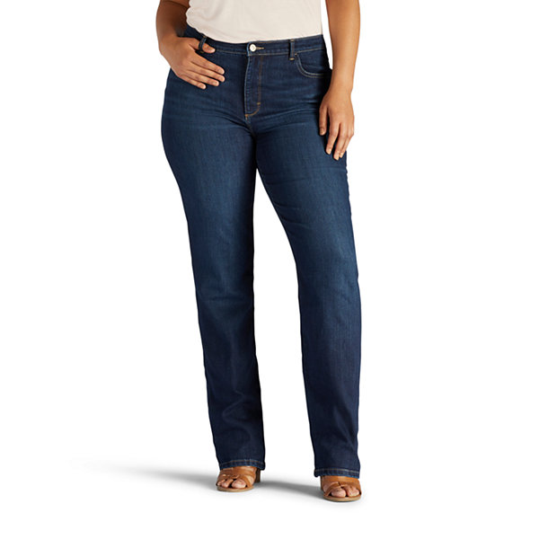 254898853d1 Lee® Instantly Slims Classic Jean- Plus. Lee® Side-Elastic Twill Pants ...