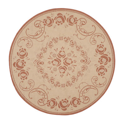 Safavieh Kalya Floral Round Indoor/Outdoor Rugs