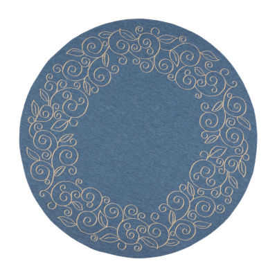 Safavieh Kiaran Floral Round Indoor/Outdoor Rugs