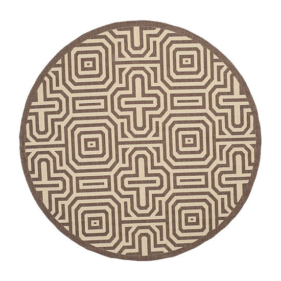 Safavieh Klara Geometric Round Indoor/Outdoor Rugs